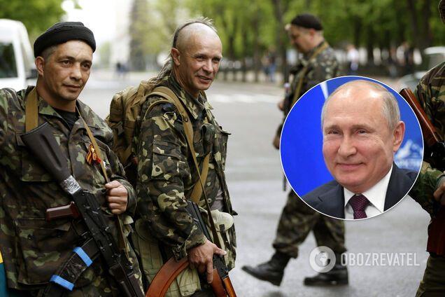 """Террористы """"ДНР"""", Владимир Путин, коллаж"""