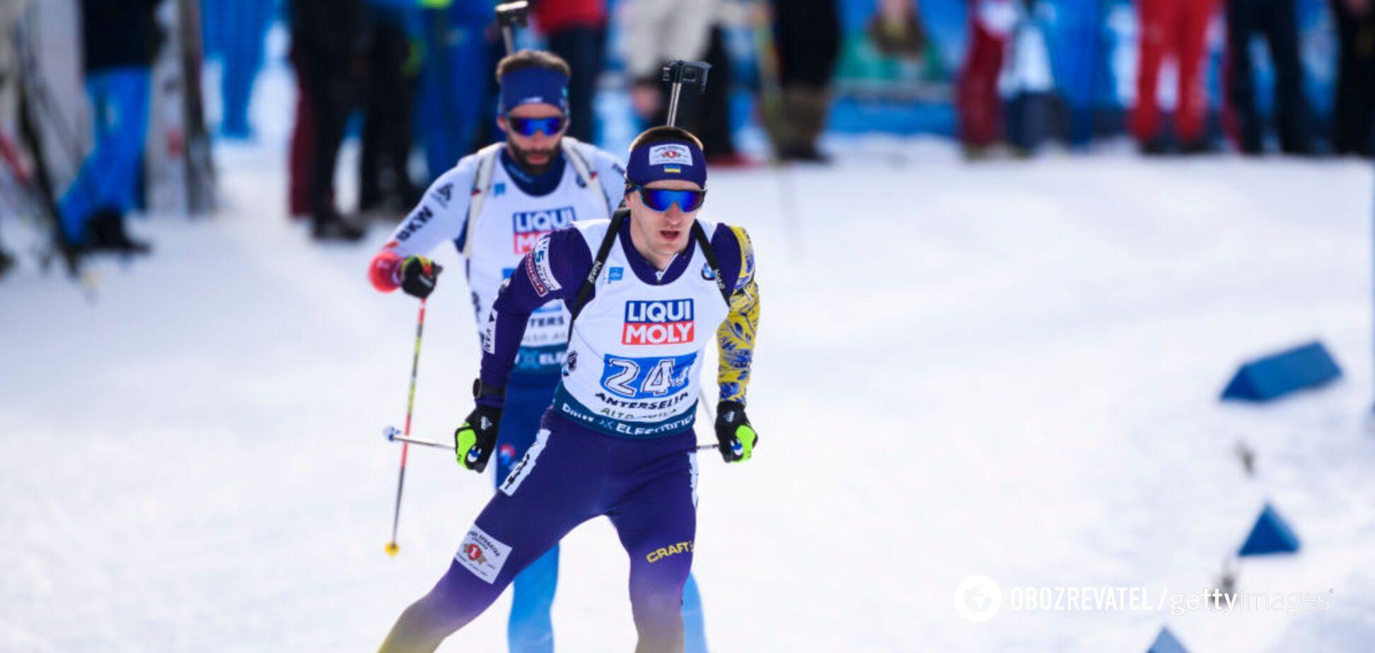 Дмитрий Пидручный на чемпионате мира по биатлону