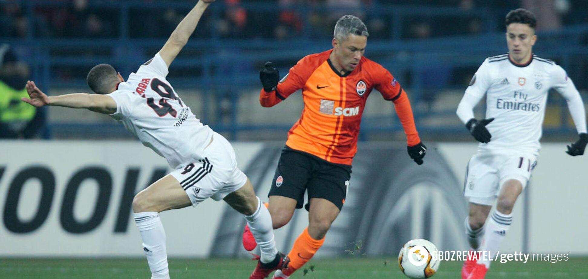 'Шахтер' обыграл 'Бенфику' в историческом матче Лиги Европы