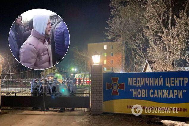 """Новые Санжары: появились фото """"титушек"""" на протестах"""