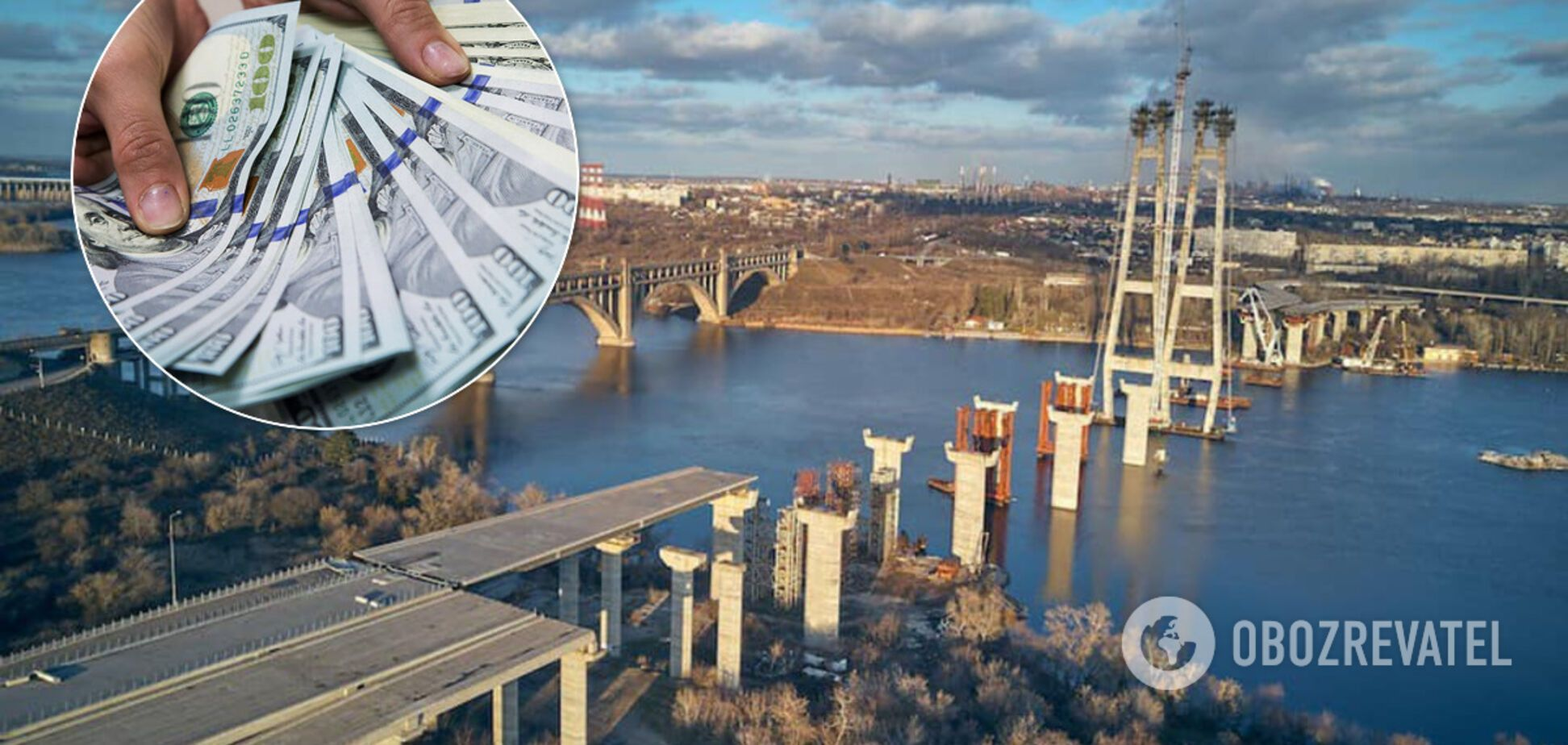 Мосты в Запорожье достроят за 11,9 млрд гривен: назван победитель тендера