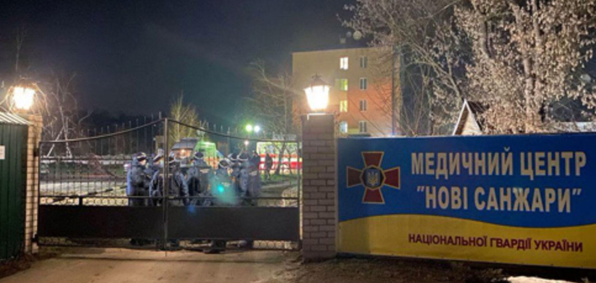 Вже не вийдуть: у МВС пригрозили тим, хто прорветься у санаторій у Нових Санжарах