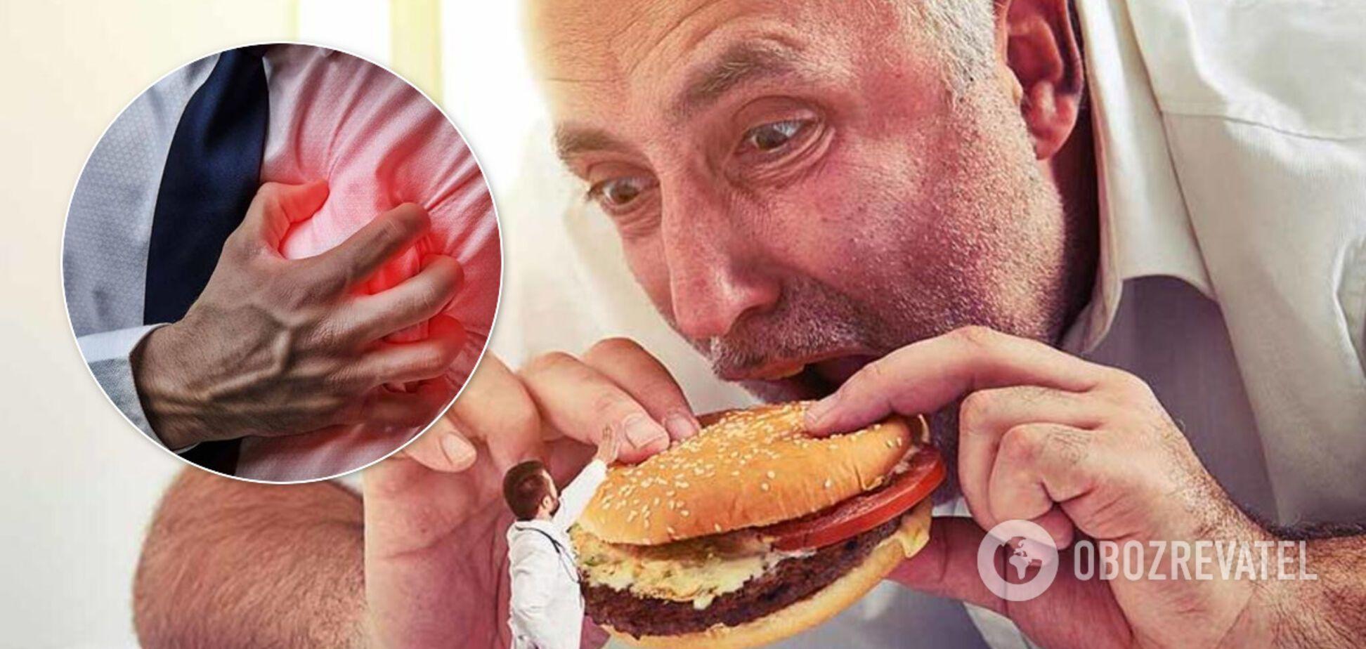 Названо три небезпечні продукти, які провокують інфаркт