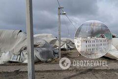 Ураган снес крышу отремонтированной казармы в Николаеве и палаточный городок ВСУ: фото и видео стихии
