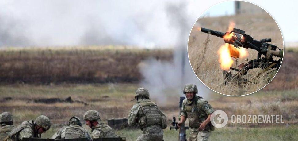 ЗСУ ефектно розгромили позицію терористів на Донбасі. Відео