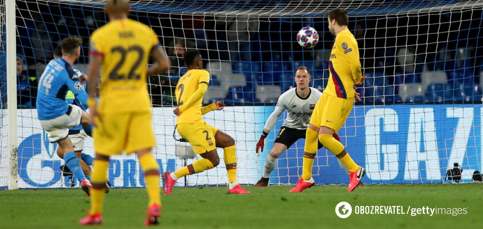 Лига чемпионов: 'Барселона' сыграла вничью с 'Наполи', а 'Бавария' обыграла 'Челси'