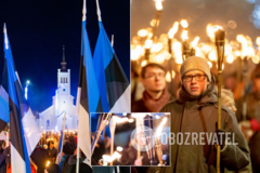 Эстония отметила день независимости факельным шествием