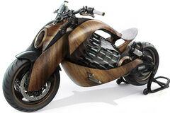 Электрический мотоцикл из дерева с запасом хода на сотни километров создали во Франции