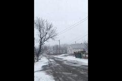 В Одесской области внезапно выпал снег (скрин)