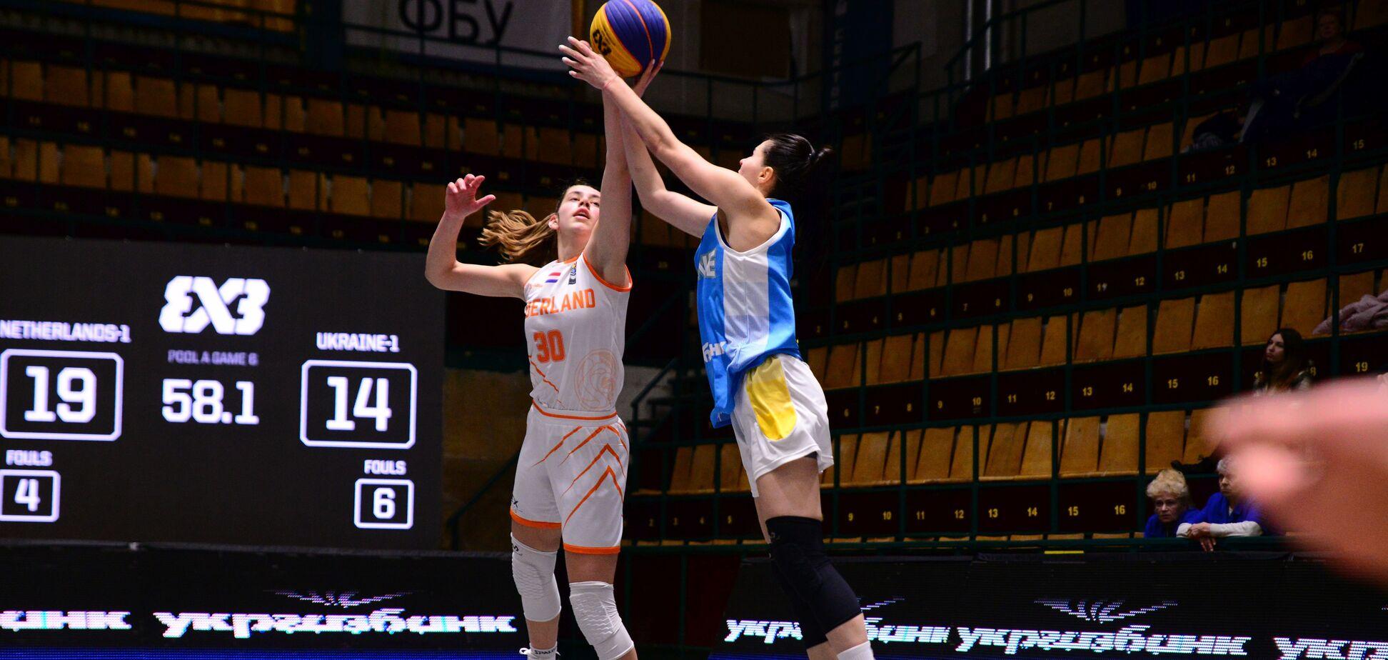 Украина против Нидерландов на турнире по баскетболу 3х3 в Киеве