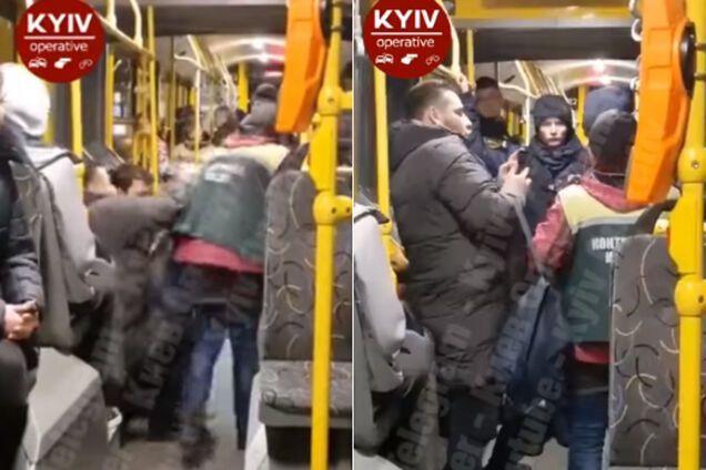 В Киеве в троллейбусе устроили громкие разборки, полиция проигнорировала