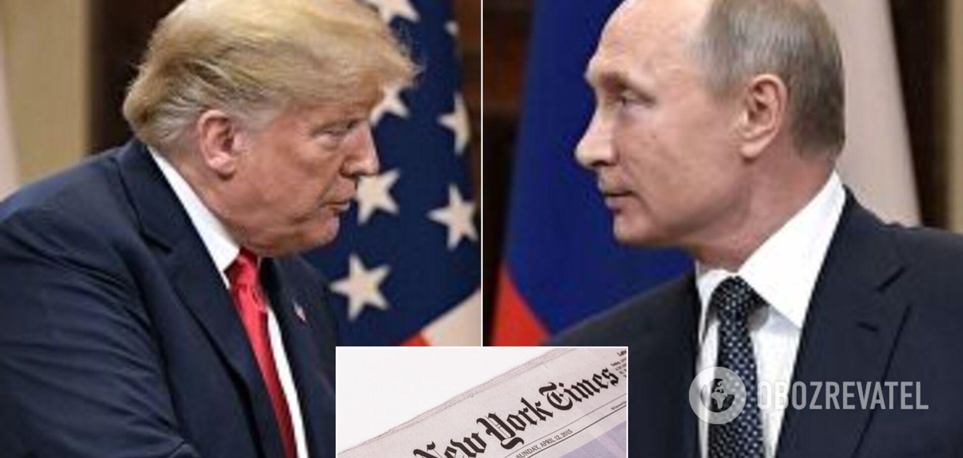 New York Times обвинила Трампа в связях с Россией: он нанес удар