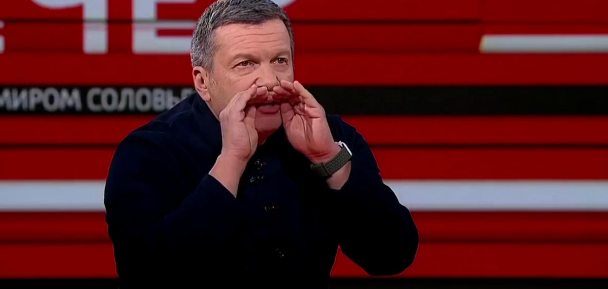 Соловйов влаштував істерику в прямому ефірі через Бандеру і Шухевича