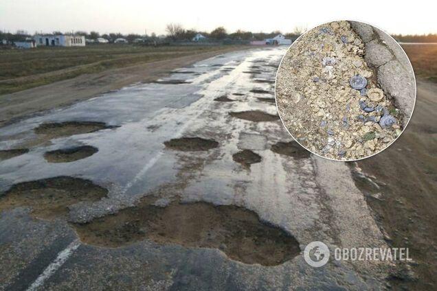 В Ялті яму засипали гіпсовими щелепами