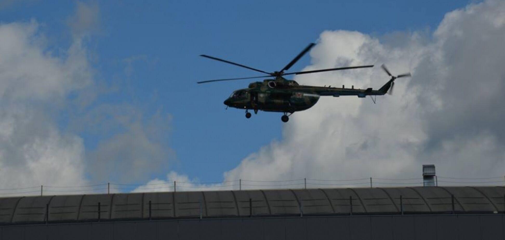 У Линейного упал вертолет