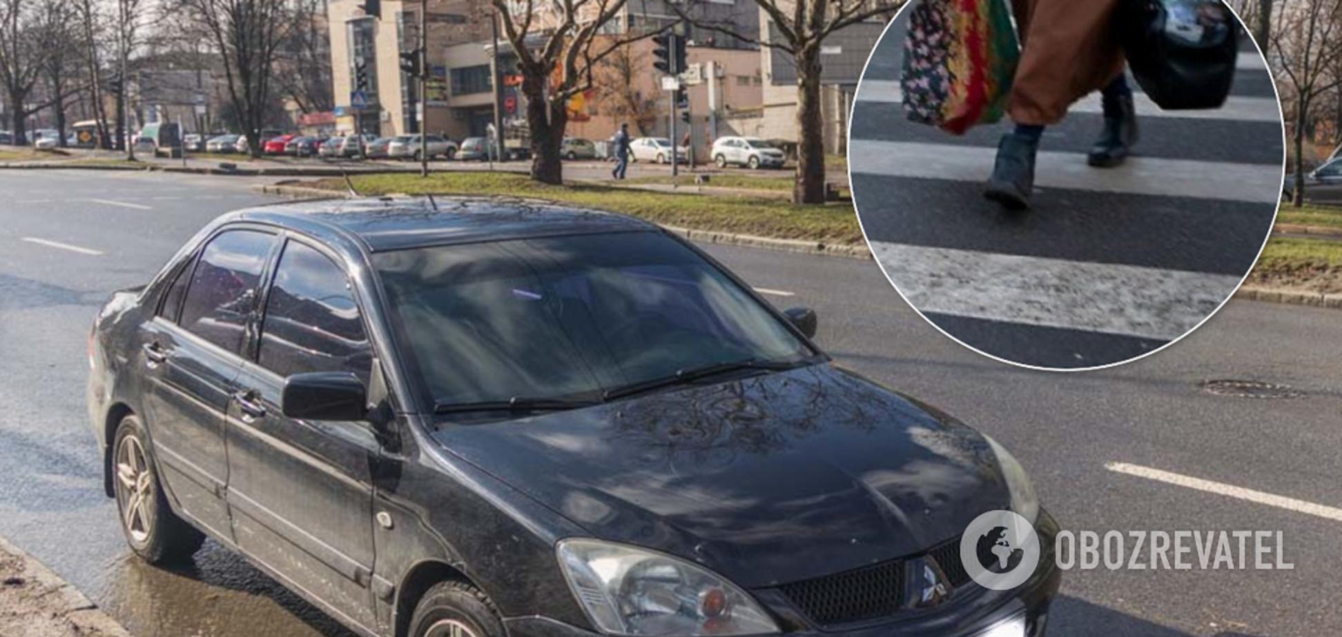 У Дніпрі авто збило жінку на 'зебрі'. Фото