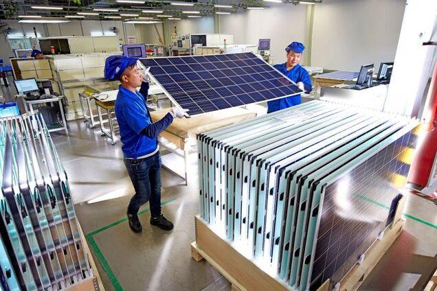 В Китае начали выпуск сверхмощных солнечных панелей нового типа