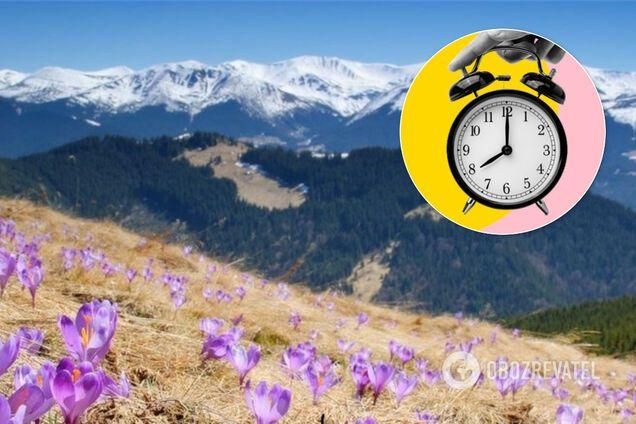 Перевод часов в Украине. Иллюстрация