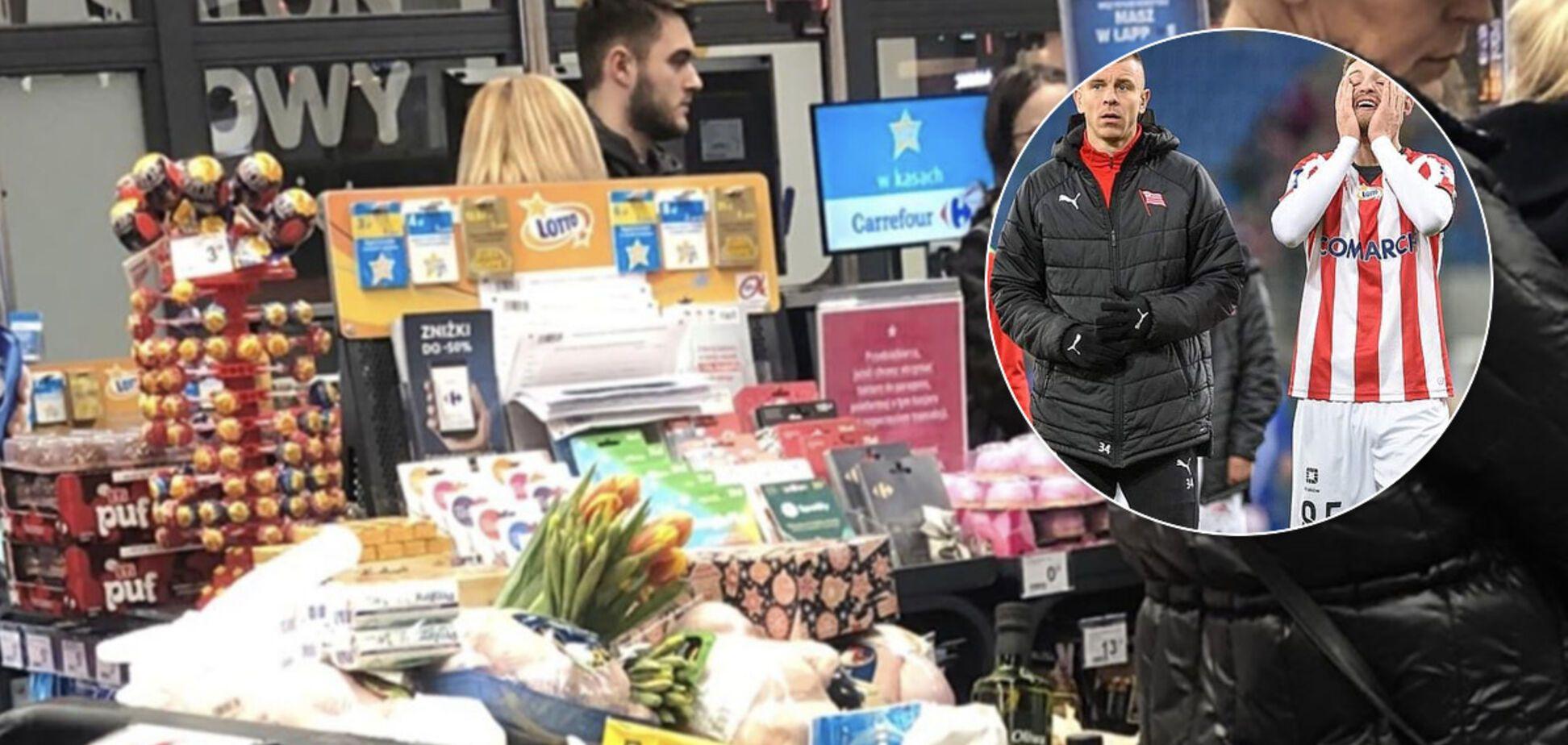 Украинский футболист показал панику из-за коронавируса