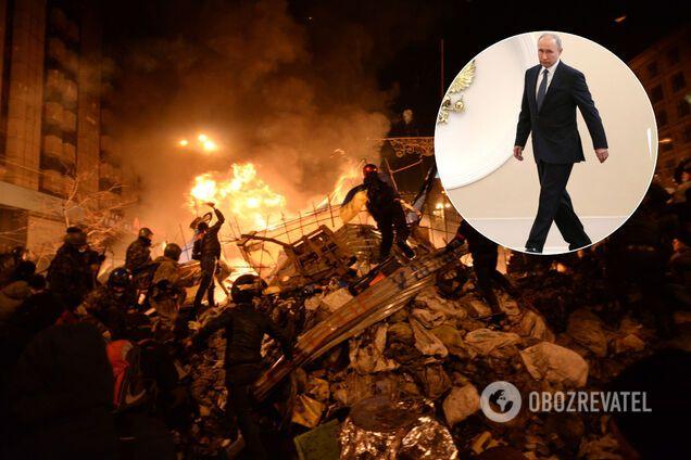 Майдан Независимости в Киеве, Владимир Путин, коллаж