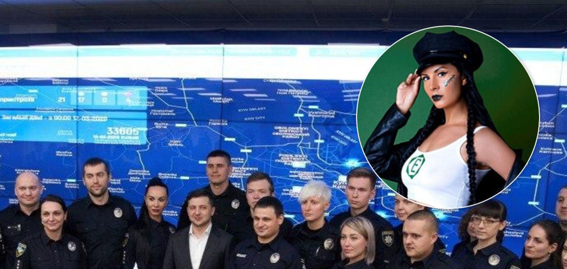 Зеленского сфотографировали с главной красоткой полиции Киева. Горячие снимки