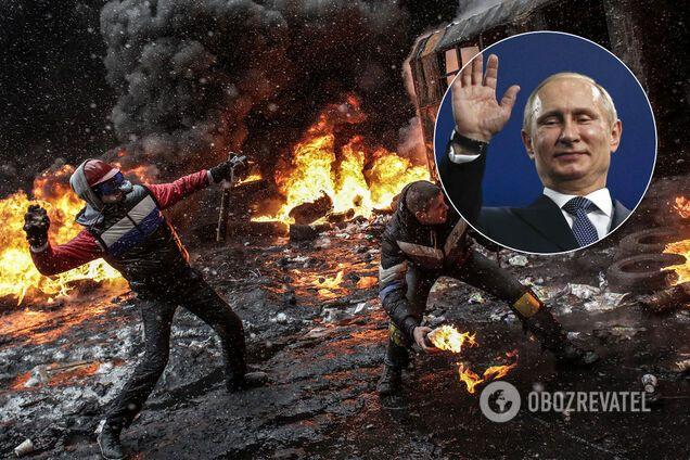 Революція Гідності в Києві, Володимир Путін, колаж
