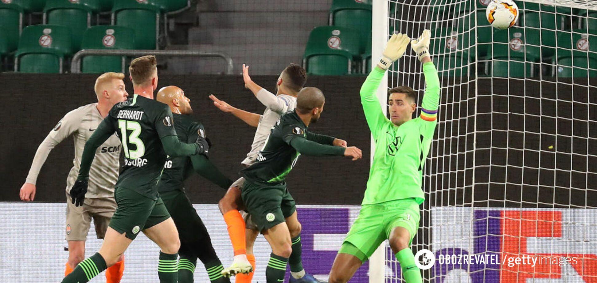 'Шахтер' победил 'Вольфсбург' в матче Лиги Европы с двумя незабитыми пенальти