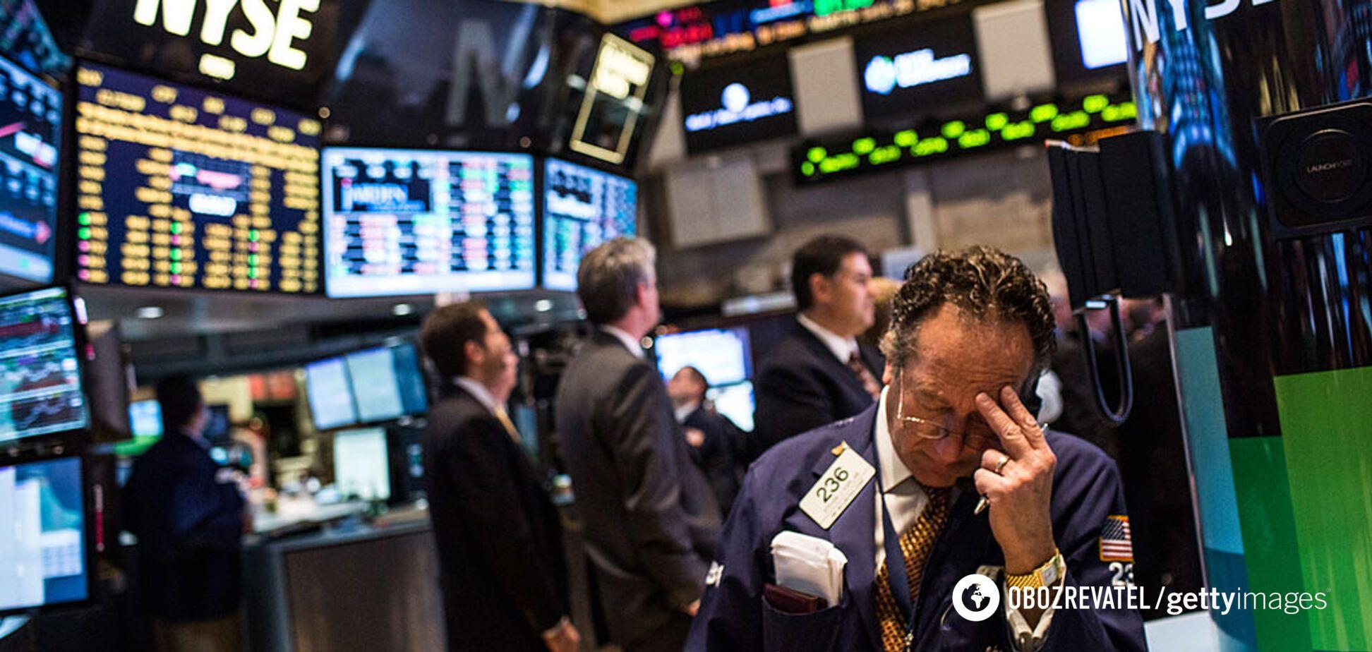 Биржи США закрылась рекордным падением