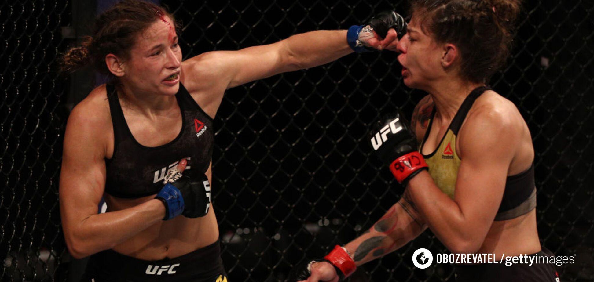 Украинка Марина Мороз в победном бою установила рекорд UFC