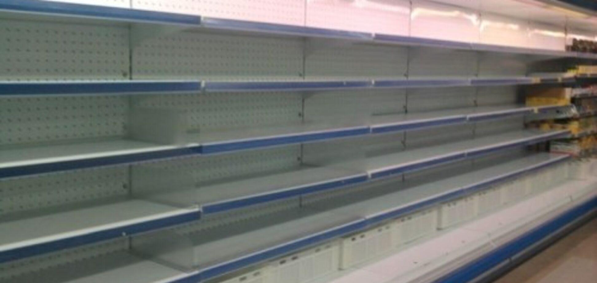 У магазинах 'ДНР' закінчуються продукти: люди розгрібають мішками