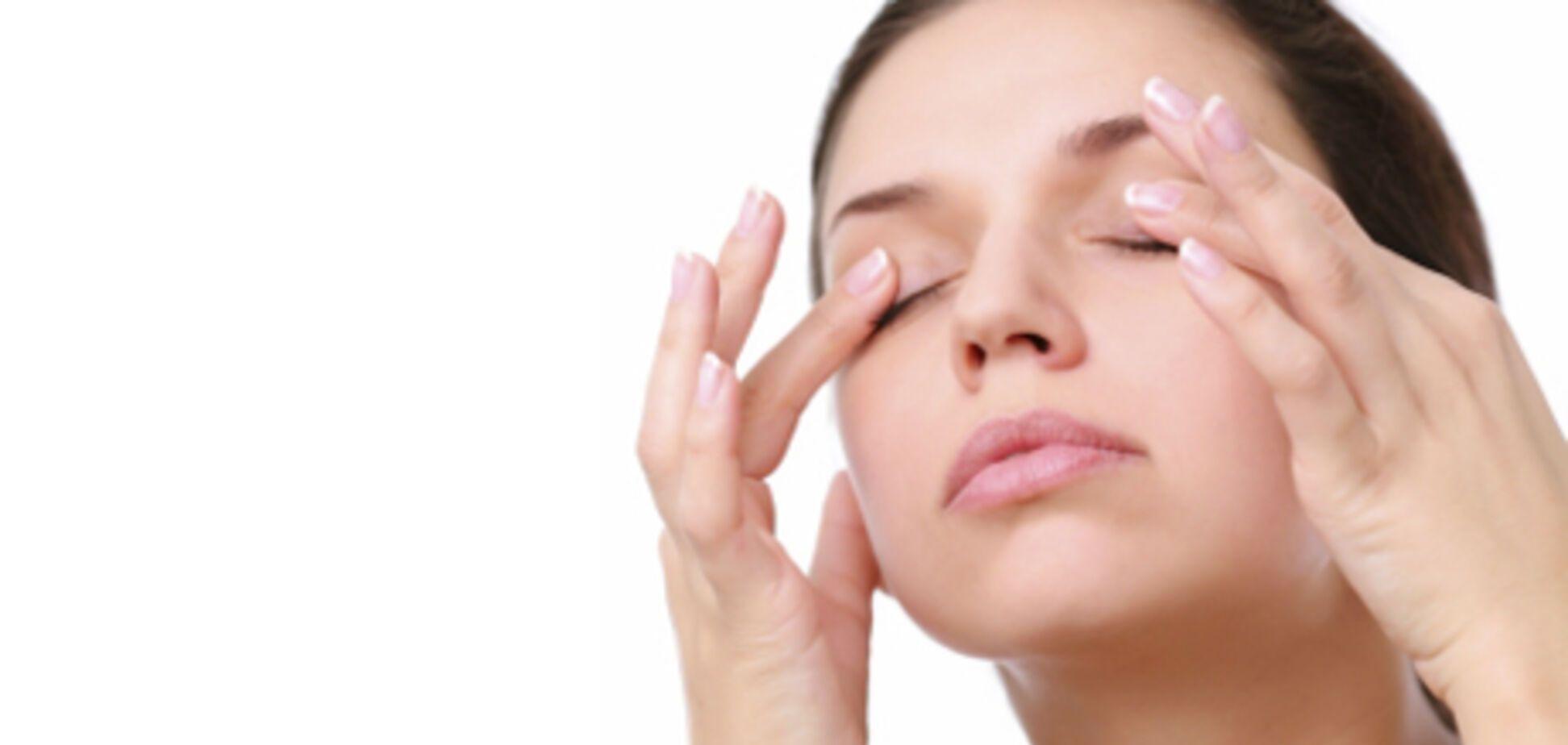 Точечный массаж для улучшения зрения