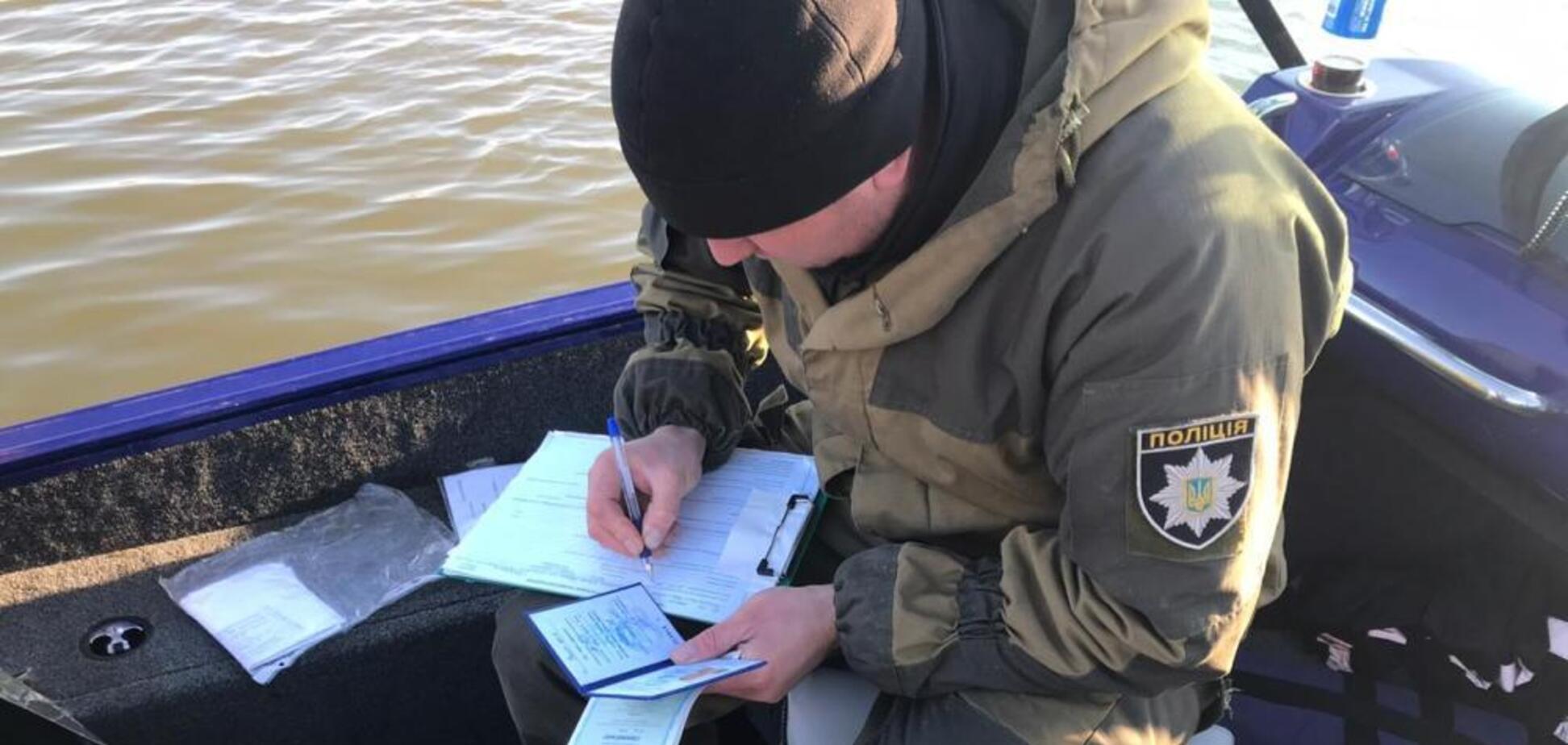 На Одесщине речные полицейские устроили погоню за пьяным лодочником