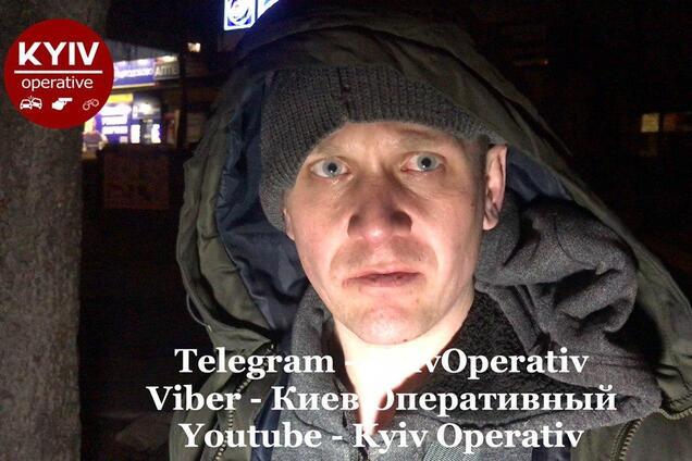 Затриманий у Києві чоловік