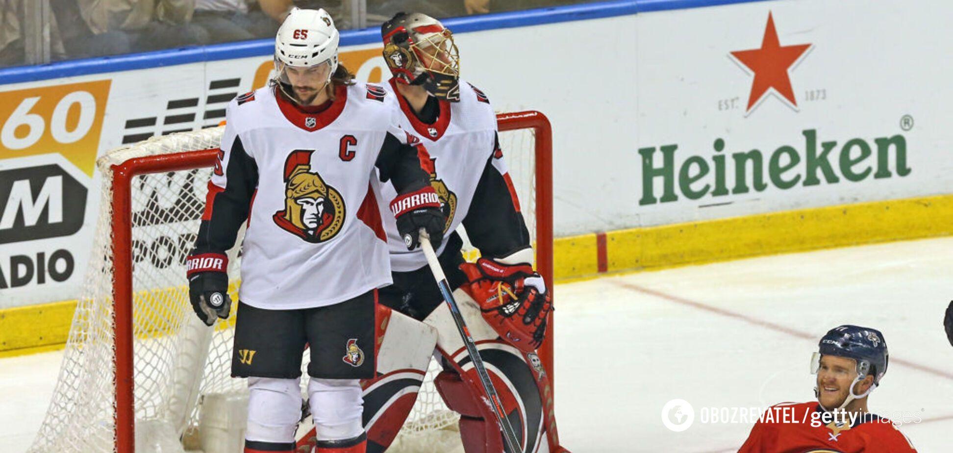 Матч 'Оттави' в НХЛ