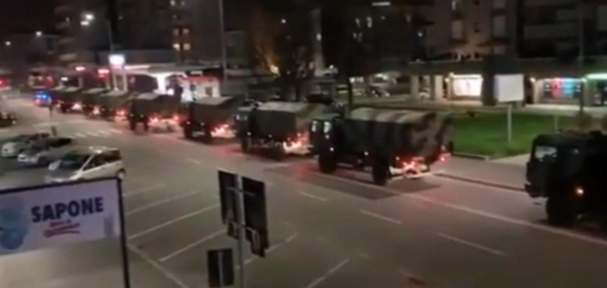 Италия побила антирекорд Китая: тела жертв коронавируса вывозят военной техникой. Видео