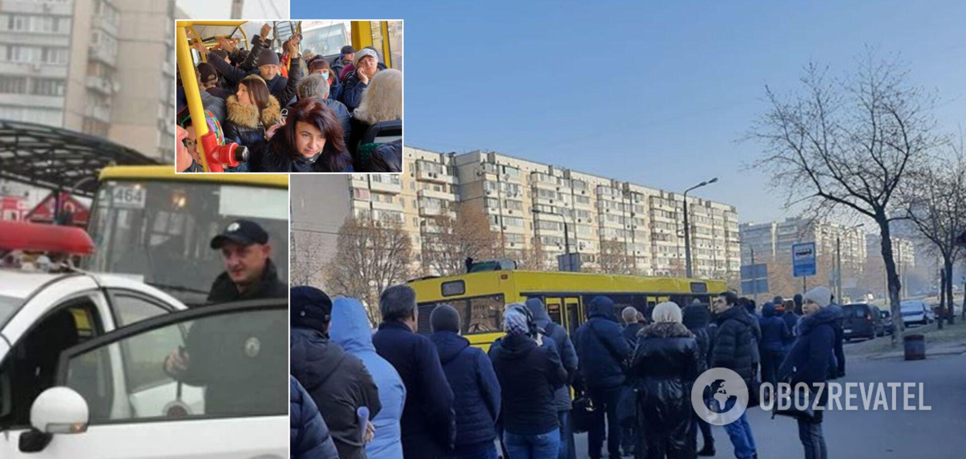 Як у Києві борються з натовпами в транспорті й кому загрожують штрафи: деталі карантину