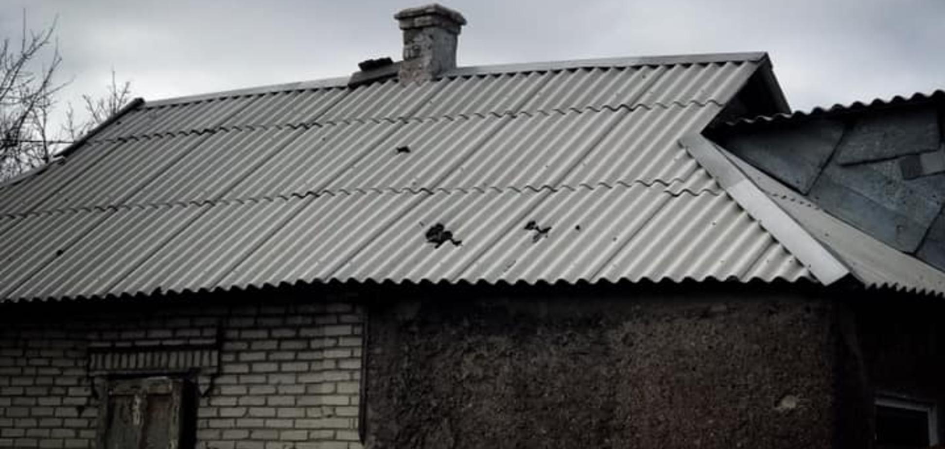 Обстрел Красногоровки террористами ДНР