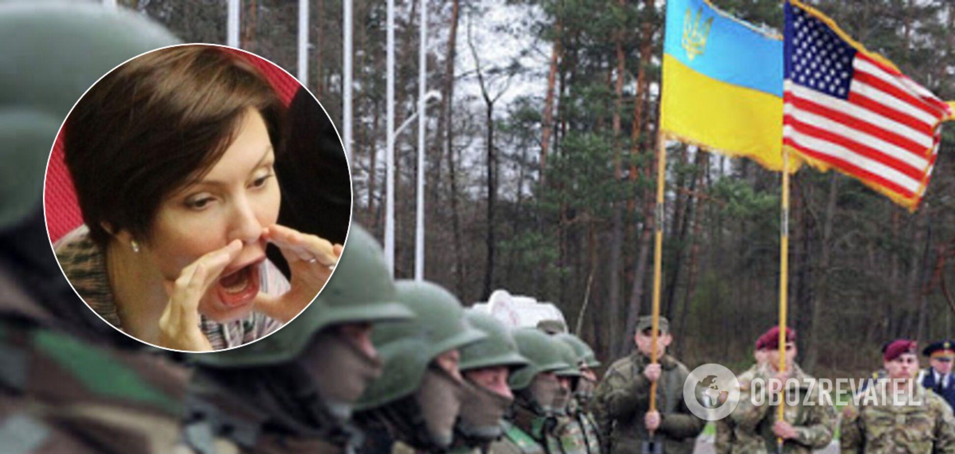 Бондаренко устроила истерику из-за 'секретной' базы США в Украине. Видео