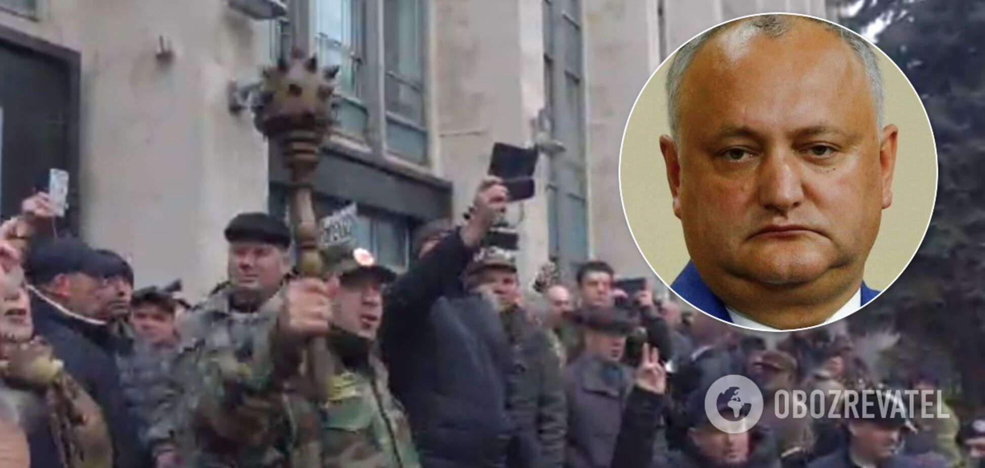 В Молдове штурмовали Кабмин из-за курса на Россию. Фото и видео