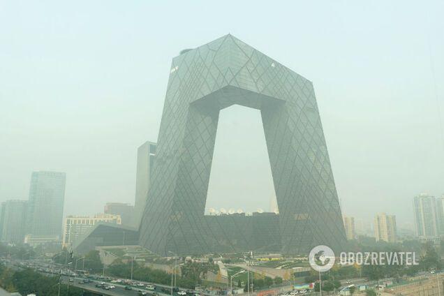 Загрязненный воздух в Пекине, Китай