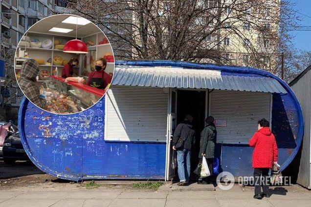 Торговые точки и покупатели в Киеве нарушают условия карантина