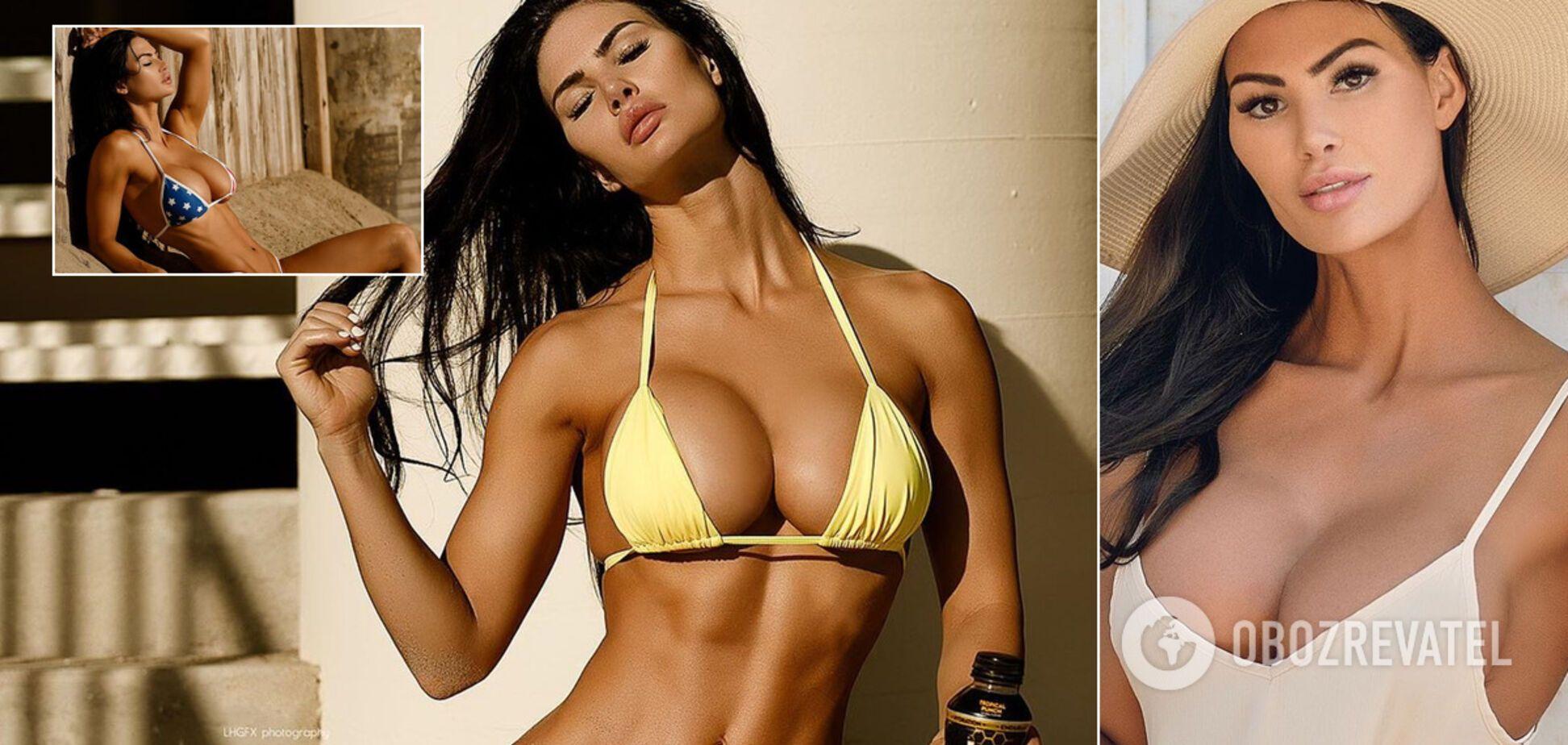 Фитнес-модель Кейтлин Ранк снялась обнаженной, поразив идеальным бюстом