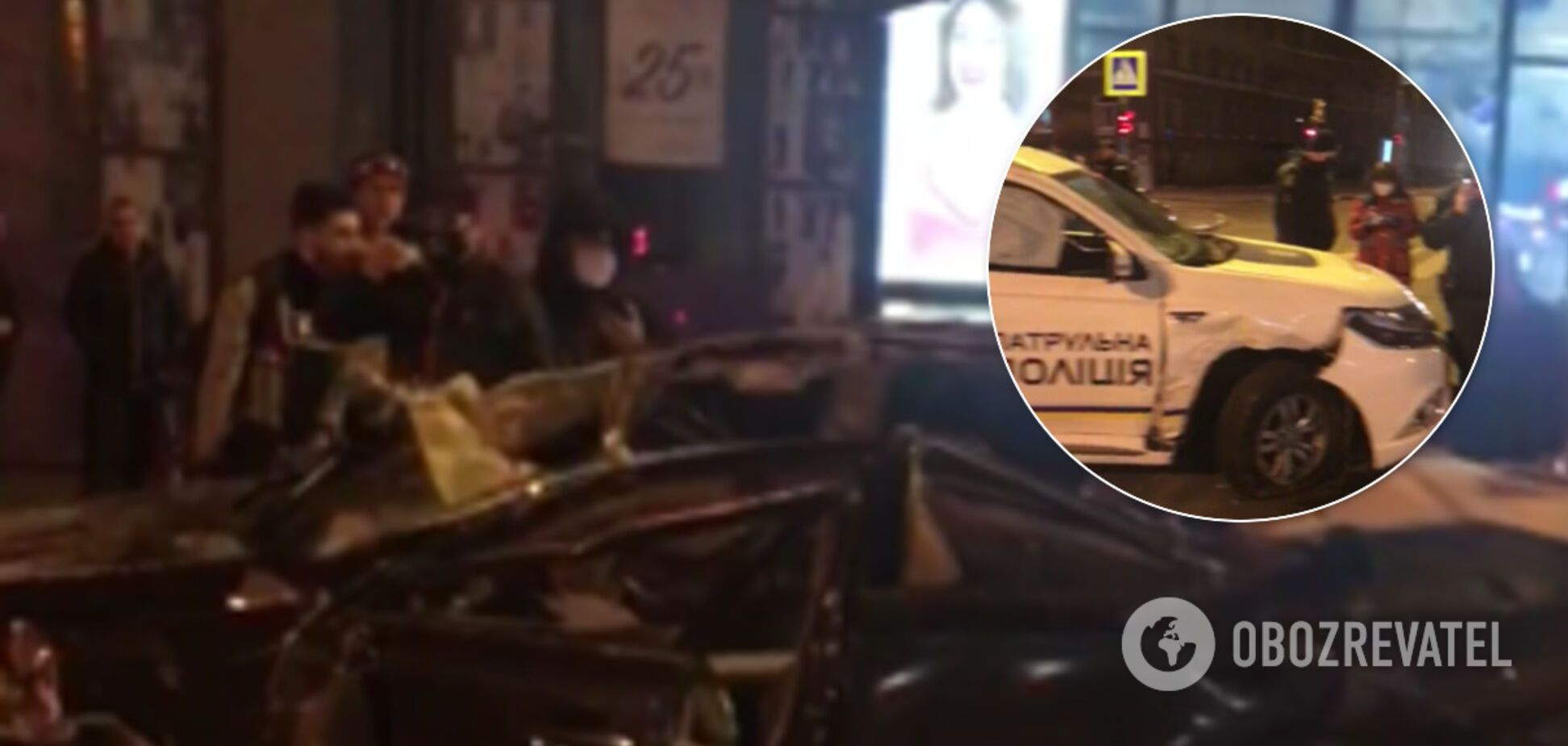 В авто знесло дах: у Харкові поліція потрапила в криваву ДТП. Фото і відео