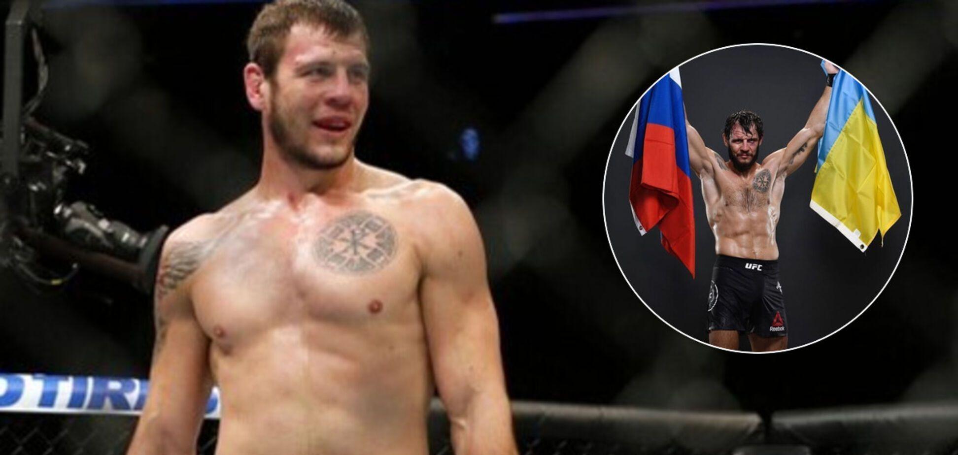 Боец UFC Никита Крылов из 'ЛНР' развернул флаг Украины ради загранпаспорта