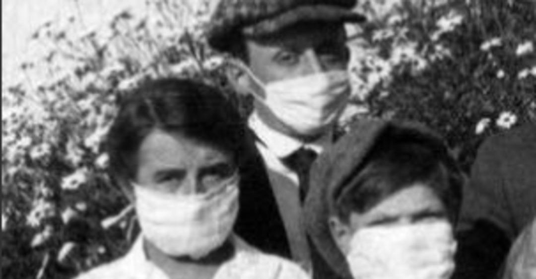Даже кот в маске! 100-летнее фото карантина во время ''испанки'' нашло