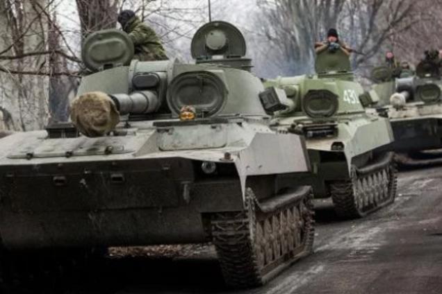 Россия перебросила танки возле Луганска