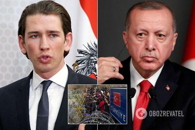 """Курц звинуватив Ердогана у використанні біженців як """"зброї для атаки на країни ЄС"""""""