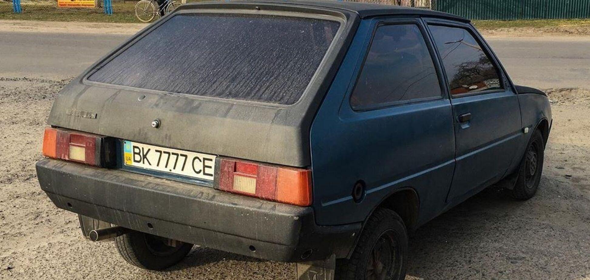 В Украине поймали ещё одну ЗАЗ Таврию с 'блатными' номерами