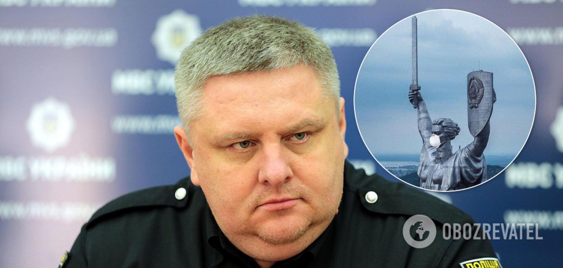 Больной коронавирусом глава полиции Киева Крищенко. Иллюстрация