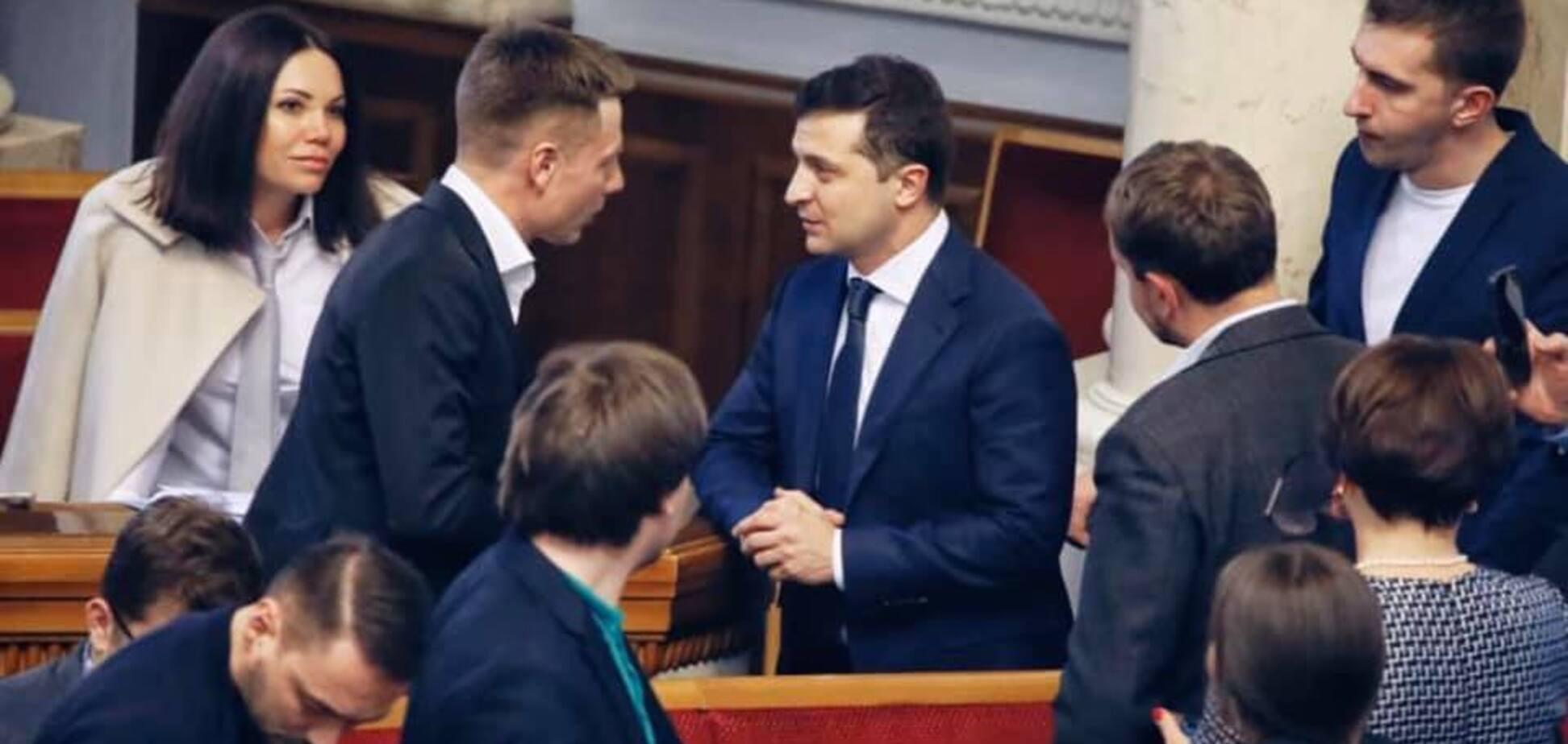 Гончаренко и Зеленский в Раде